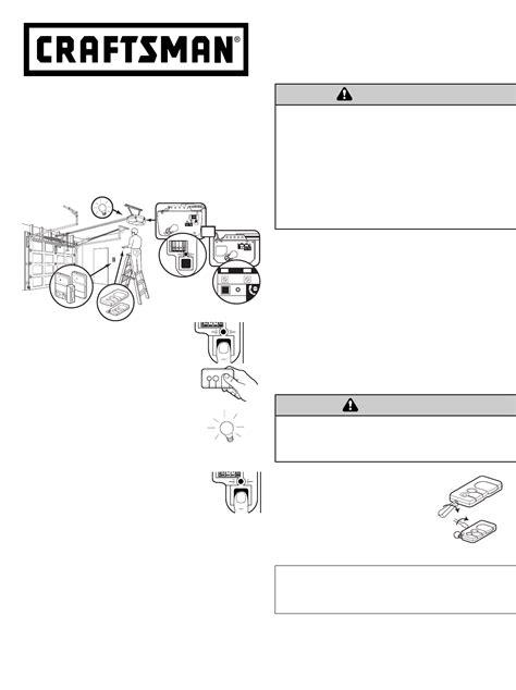 Craftsman Garage Door Opener Manual by Craftsman Garage Door Opener Manual
