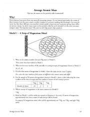 Average Atomic Mass Worksheet Pogil by Periodic Table Study Resources