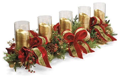 christmas joy decorated candle holder frontgate