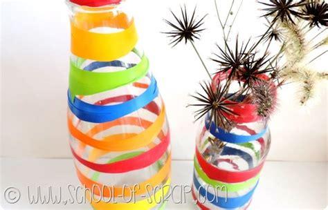 vasi plastica colorati riciclo creativo trasformiamo i vasi di vetro in vasi