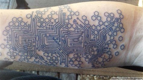 circuit tattoo geeky tattoos