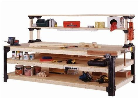 2x4basics workbench legs and shelf links diy home decor