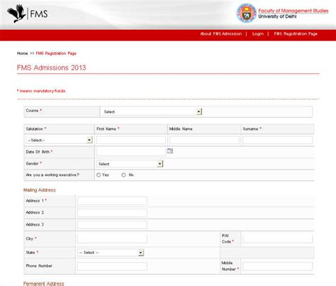 Fms Evening Mba by Fms Delhi Entrance Form 2018 2019 Studychacha