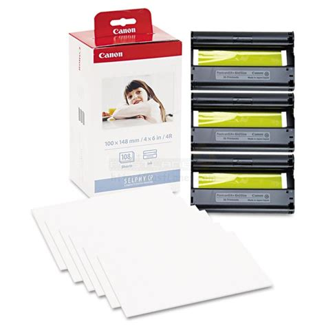 ink cassette canon selphy canon kp 108in color ink photo paper set for selphy printer