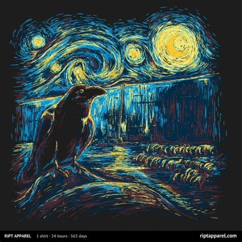 9 geeky variations of a starry night by van gogh epic geek gear game of thrones starry night s watch