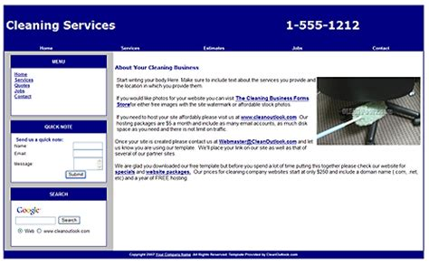 Cleaning Company Website Template Cleaning Service Website Template
