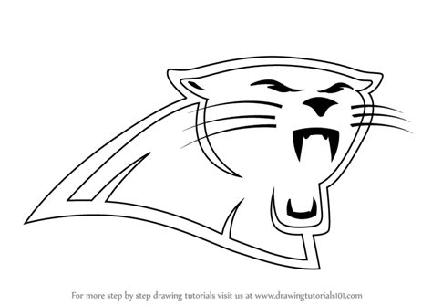 carolina panthers coloring pages carolina panthers printable logo pictures to pin on
