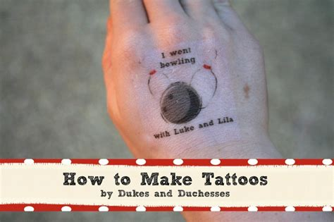 how to make your own tattoo a bowling how to make tattoos duke make your