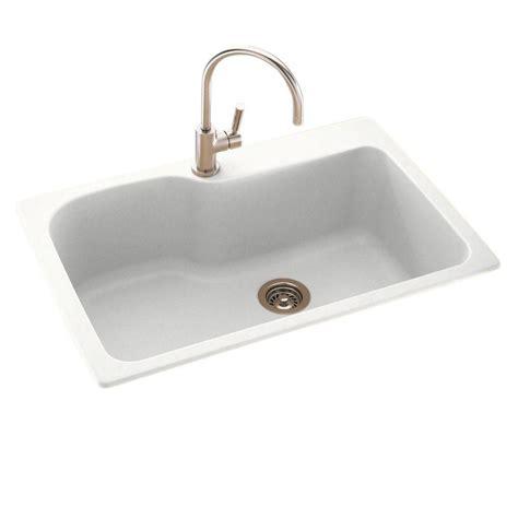 Swanstone Drop In Undermount Composite 33 In 1 Hole Swanstone Undermount Kitchen Sink
