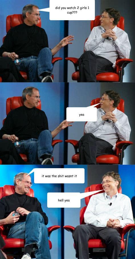 Steve Jobs And Bill Gates Meme - steve jobs vs bill gates memes quickmeme