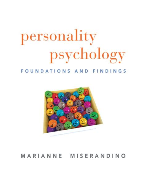 the foundations of personality books personality psychology foundations and findings textbook