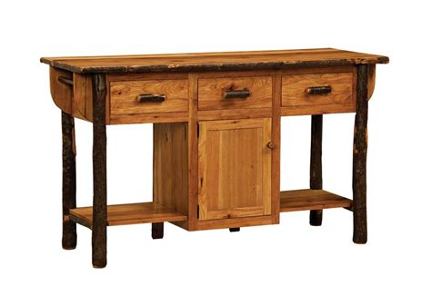 solid hickory wood american made furniture kitchen island