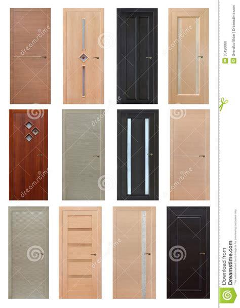 Setting Interior Doors by Set Of 12 Interior Wooden Doors Stock Photo Image 35426000