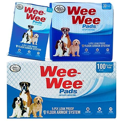how to wee wee pad your four paws wee wee pads bed bath beyond