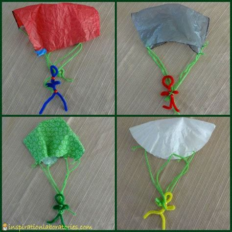 How To Make A Parachute Out Of Paper - best 20 parachutes ideas on