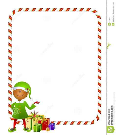 cadre card templates elfe de no 235 l avec le cadre 2 de cadeaux image stock