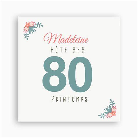 carte anniversaire 80 ans carte anniversaire de mariage