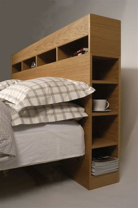 Headboard Storage by Headboard Storage For The Home