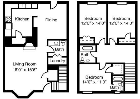 5 bedroom townhouse floor plans floorplans willow mist
