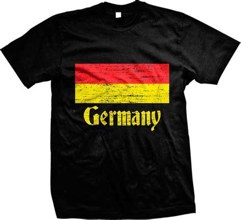 Deutschland T Shirt by Distressed Germany Country Flag Deutschland German Mens