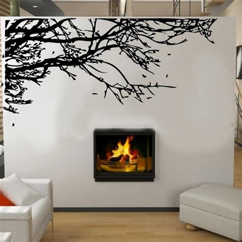 tree wall decals for living room hot sell large size black tree branch wall stickers living