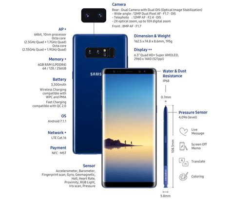 Samsung Note 8 256gb samsung galaxy note 8 launches with infinity display mobile phones news hexus net