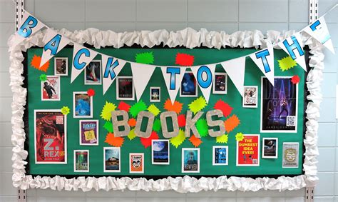 back to school bulletin board life in the library