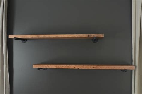 industrial pipe shelves diy rachael edwards