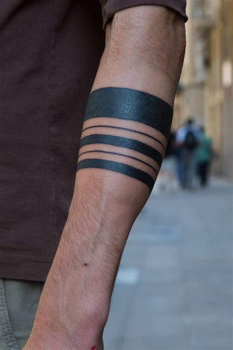 simple tattoo band cool different line black ink tribal band tattoo on