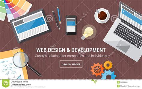 web design concept desk stock vector image