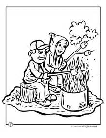preschool camping coloring pages coloring