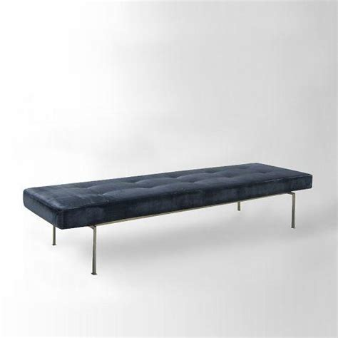 west elm upholstered bench lithe tufted bench west elm