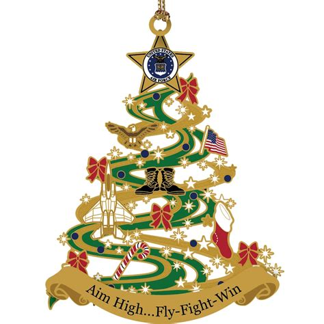 chemart air force christmas tree custom ornament