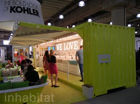 Basement Office Design kohler makes a splash at icff with a neon chartreuse