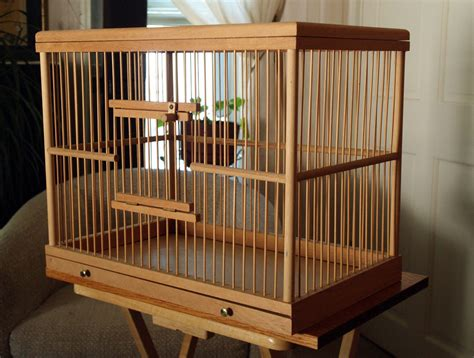 Handmade Bird Cages - made bird cageall wood by dawsonscottbooks