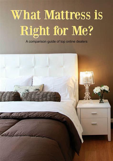 mattress comparison guide purchasing the right mattress a comparison guide of the