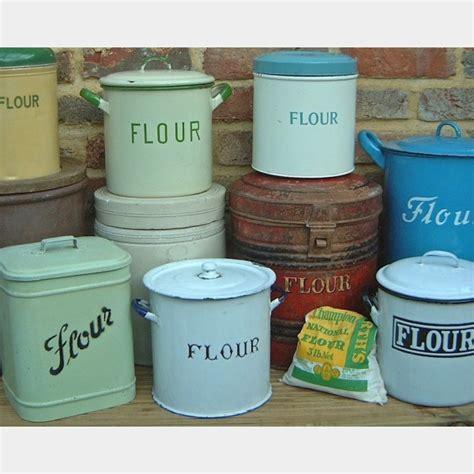 Flour & sugar bins   The Vintage Kitchen Store