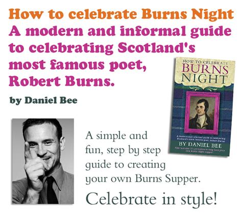 burns night guide the history of the burns supper tips for hosting a burns night supper daniel bee