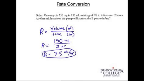 how many place settings rate conversion 20 setting an iv pump ml hr youtube