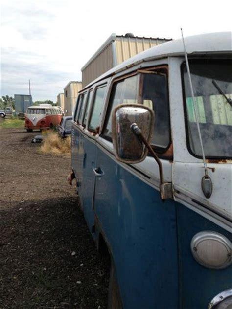 buy   deluxe vw bus split screen splitscreen  window sea blue volkswagen patina