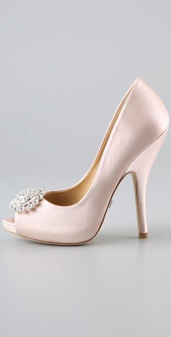 Badgley Mischka Randee Pink Satin Heels by Badgley Mischka Lissa Satin Pumps In Pink Lyst