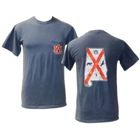 Navy Comfort Color Flag Shirt Available In Store Or