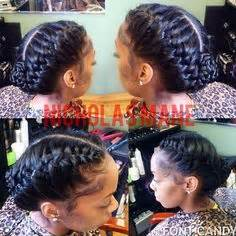hairstyles by mary instagram stylist feature this braided bun on porscheee done by