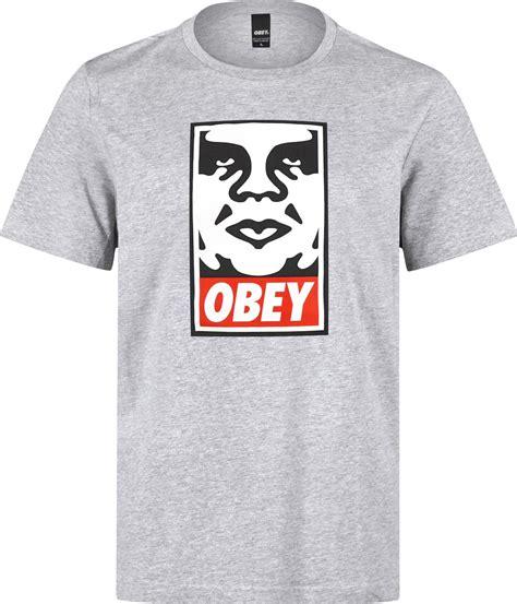 Obey Shirt obey icon t shirt grau meliert