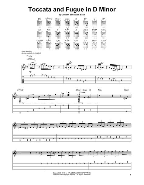 bach fugue in em on banjo toccata and fugue in d minor sheet direct