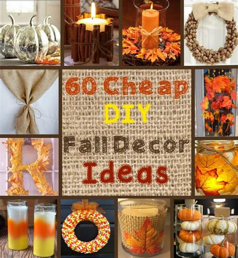 diy fall decorations 100 cheap and easy fall decor diy ideas fall decor and