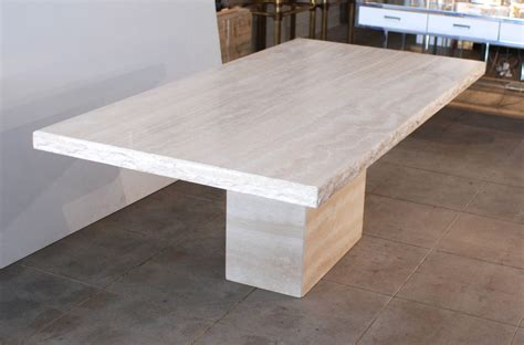 Travertine Dining Table Italian Travertine Dining Table At 1stdibs