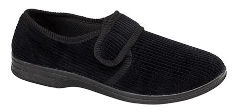 Slippers 14 Additional large mens slippers slip on mules velour large sizes gift size 11 12 13 14 ebay