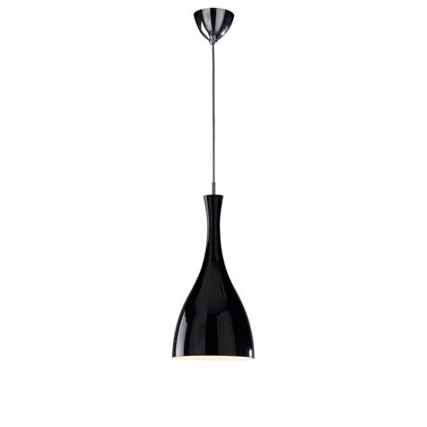tone modern black ceiling pendant light on a wire