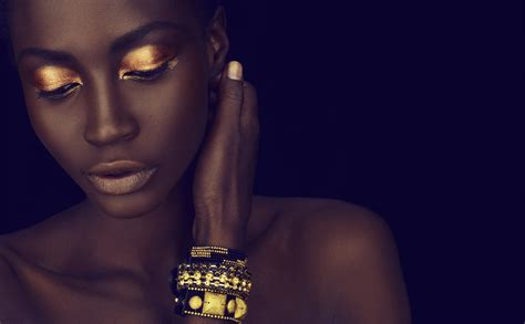 how to create a stylish black and gold 3d text effect in 23 great make up looks for black women s skin styles weekly